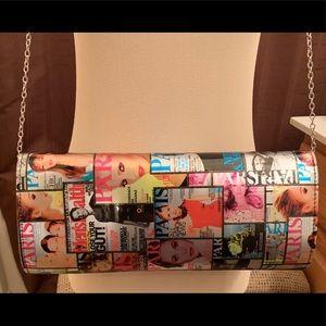 Handbags - Glossy Magazine Cover Clutch-Handbag